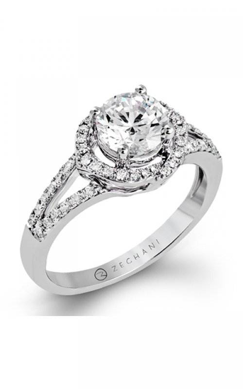 Zeghani Delicate Diva Engagement ring ZR1323 product image