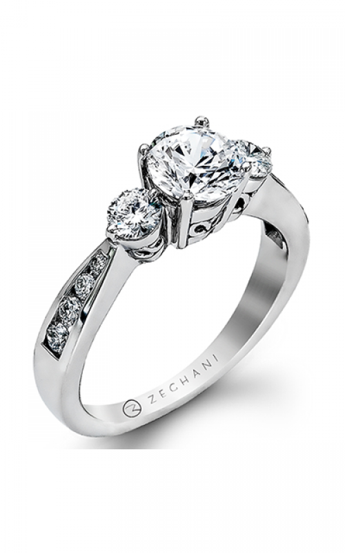 Zeghani Delicate Diva Engagement ring ZR132 product image