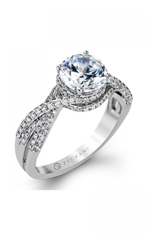 Zeghani Delicate Diva Engagement ring ZR1155 product image