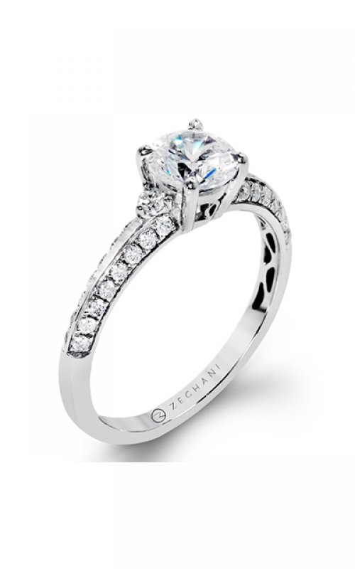 Zeghani Delicate Diva Engagement ring ZR1227 product image