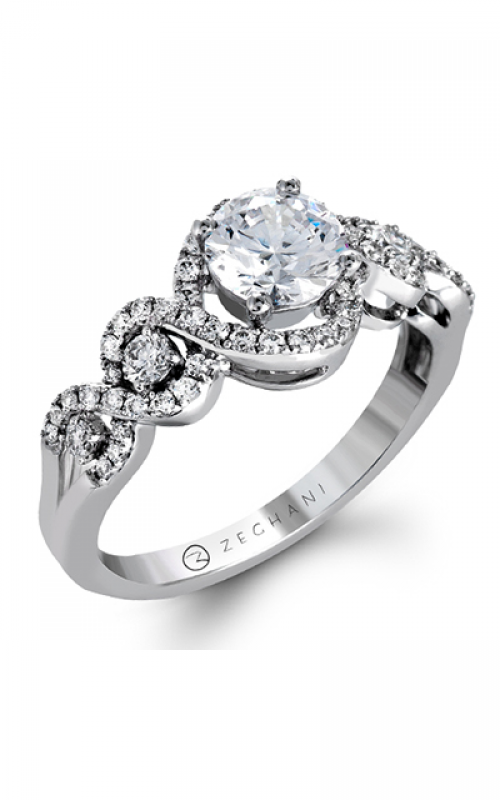 Zeghani Blindingly Beautiful Engagement ring ZR1274 product image