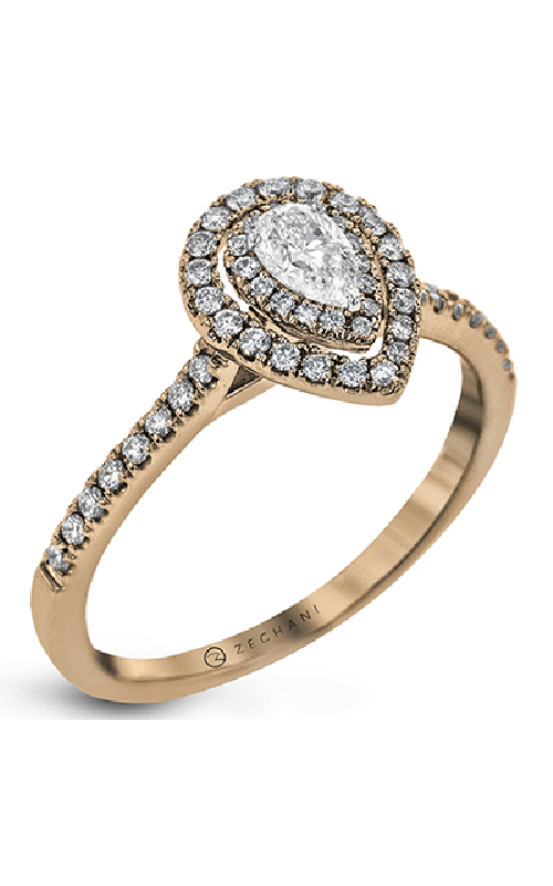 Zeghani Delicate Diva Engagement ring ZR1870-R product image