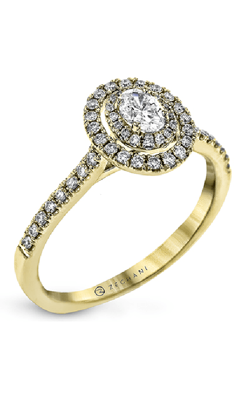 Zeghani Delicate Diva Engagement ring ZR1869-Y product image
