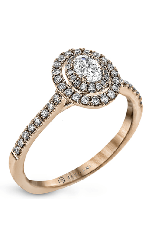 Zeghani Delicate Diva Engagement ring ZR1869-R product image