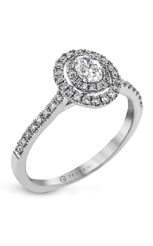 Zeghani Delicate Diva Engagement ring ZR1869 product image