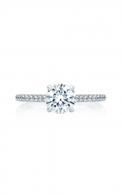 A.Jaffe Four Prong Engagement Ring With Diamond Band ME2029Q product image