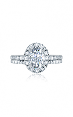 A.Jaffe Oval Halo Engagement Ring with Belted Gallery Detail ME2168Q-205 product image