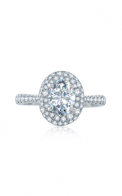 A.Jaffe Scattered Diamond Oval Halo Engagement Ring ME2165Q product image