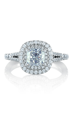 A.Jaffe Classic Double Halo Cushion Engagement Ring MES574-156 product image