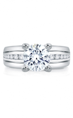 A.Jaffe Fancy Side Stone Engagement Ring RMS006-130 product image