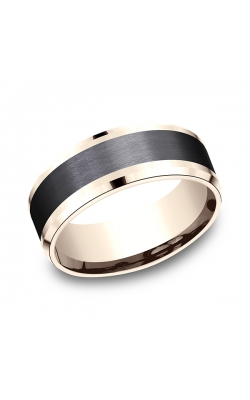 Ammara Stone Comfort-fit Design Wedding Band CF468010BKT14KR11.5 product image