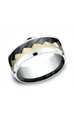 Ammara Stone Comfort-fit Design Wedding Band CF5059762BKT14KWY08 product image