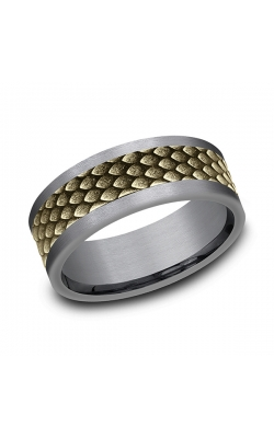 Ammara Stone Comfort-fit Design Wedding Band CFBP978857GTA14KY10 product image