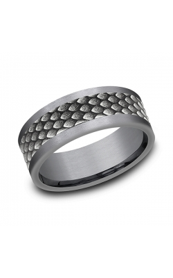 Ammara Stone Comfort-fit Design Wedding Band CFBP988857GTA14KW08 product image