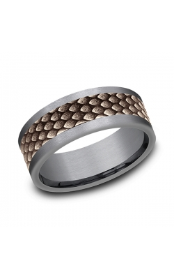 Ammara Stone Comfort-fit Design Wedding Band CFBP998857GTA14KR08 product image
