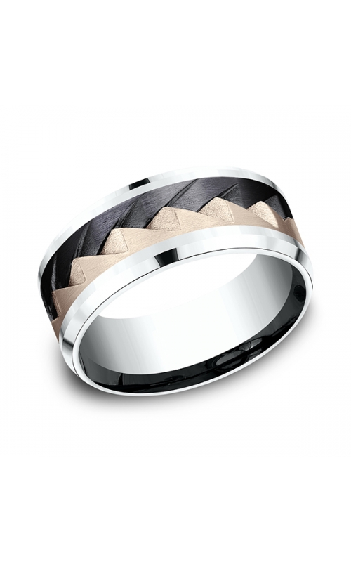 Ammara Stone Comfort-fit Design Wedding Band CF5079762BKT14KRW08 product image