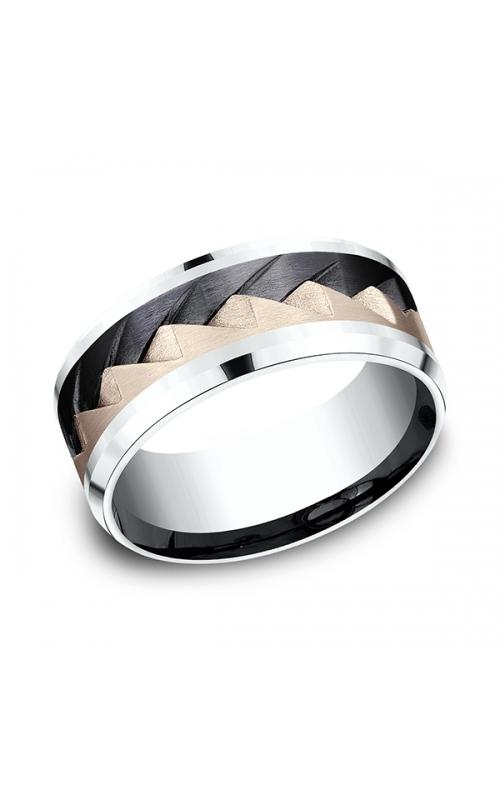 Ammara Stone Comfort-fit Design Wedding Band CF5079762BKT14KRW10 product image