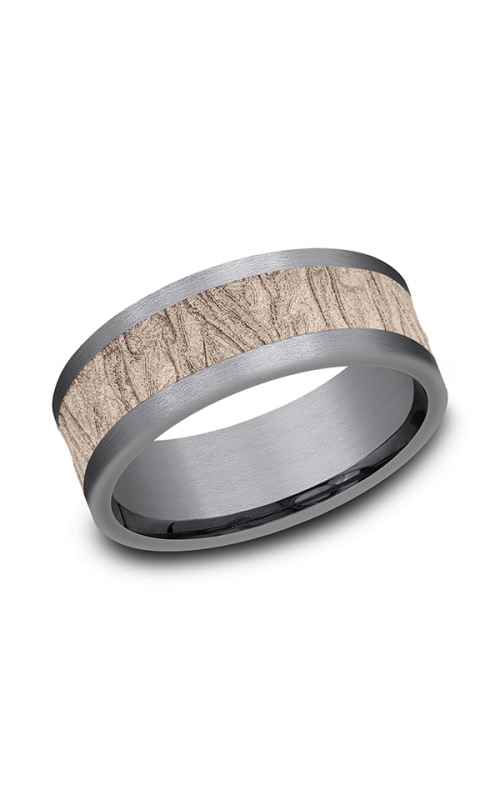 Ammara Stone Comfort-fit Design Wedding Band CF998635GTA14KR08 product image