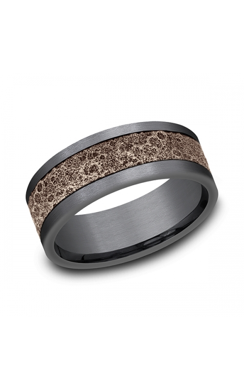 Ammara Stone Comfort-fit Design Wedding Band CFBP998629GTA14KR08 product image