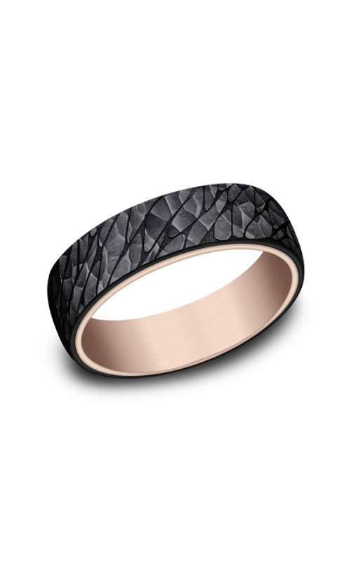 Ammara Stone Comfort-fit Design Wedding Band RIRCF9665393BKT14KR07 product image