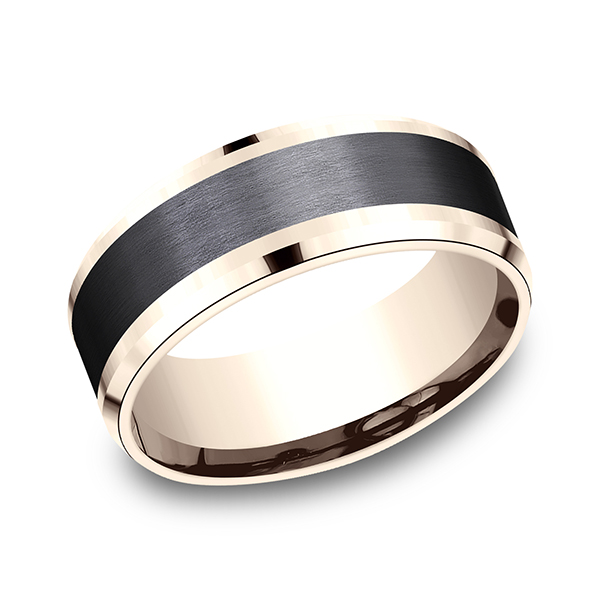 Ammara Stone Comfort-fit Design Wedding Band CF468010BKT14KR07 product image