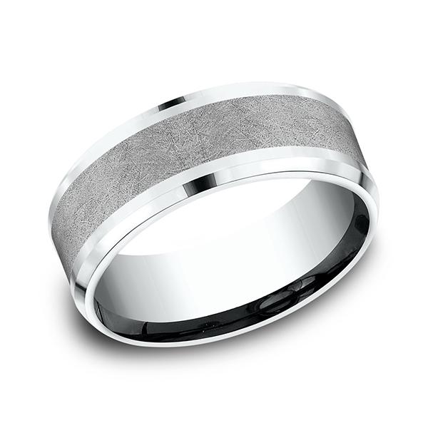 Ammara Stone Comfort-fit Design Wedding Band CF458070GTA14KW07 product image