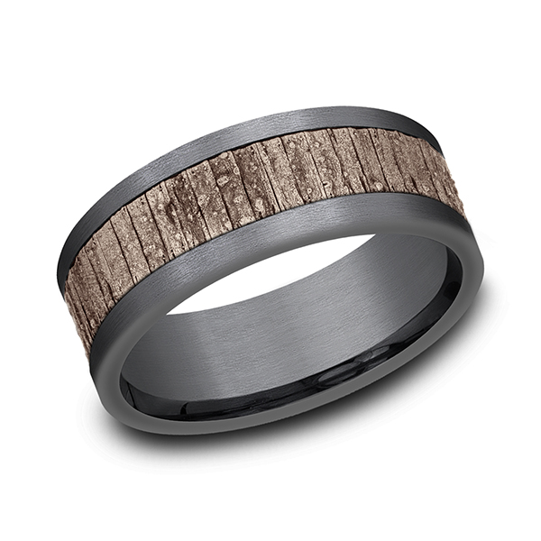 Ammara Stone Comfort-fit Design Wedding Band CF998630GTA14KR08 product image
