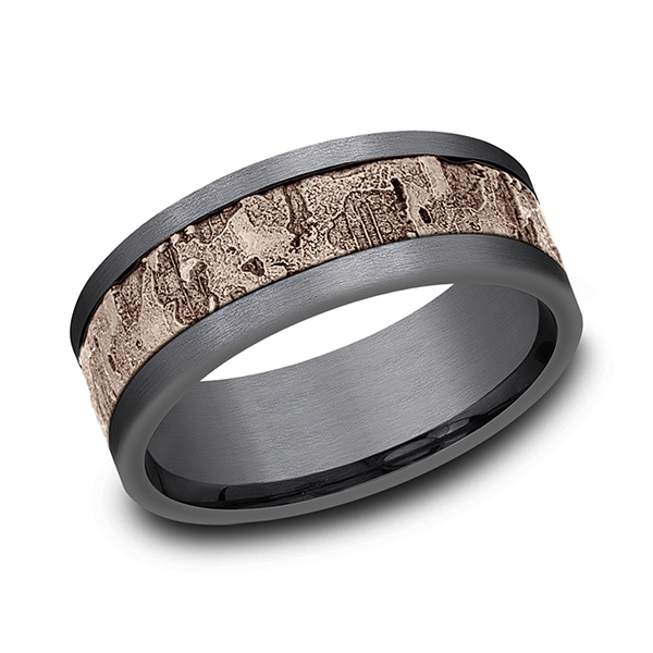 Ammara Stone Comfort-fit Design Wedding Band CF998633GTA14KR08 product image