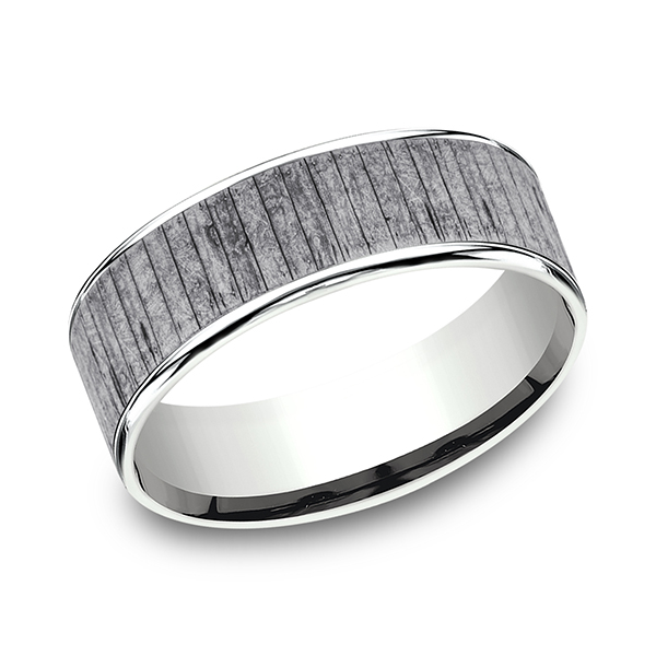 Ammara Stone Comfort-fit Design Wedding Band CFT9575630GTA14KW08 product image