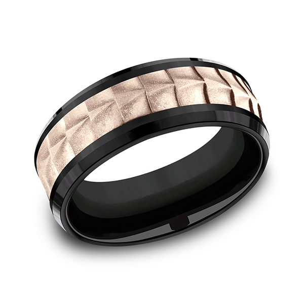 Ammara Stone Comfort-fit Design Wedding Ring CF398765BKT14KR06 product image
