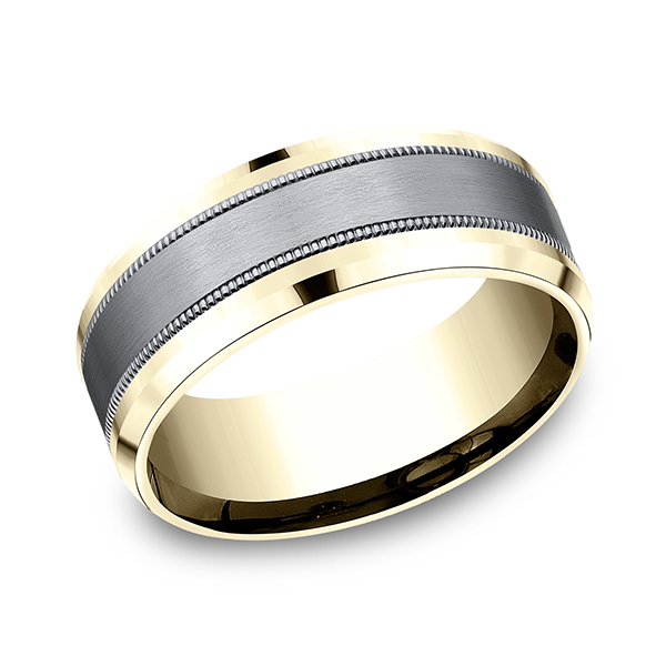 Ammara Stone Comfort-fit Design Wedding Band CF448013SGTA14KY07 product image
