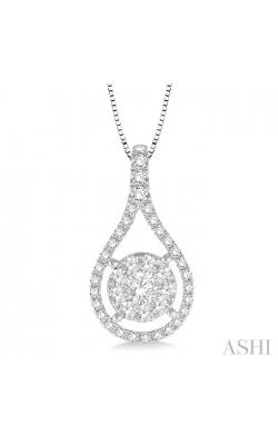 PEAR SHAPE LOVEBRIGHT DIAMOND PENDANT 98733DHFHPDWG product image