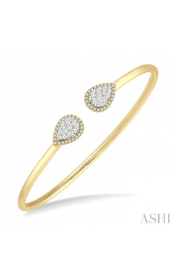 PEAR SHAPE LOVEBRIGHT ESSENTIAL CUFF OPEN DIAMOND BANGLE 7993HDHFVYW product image
