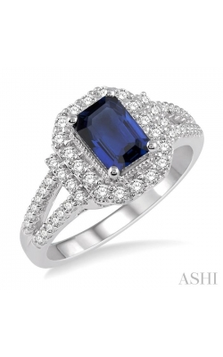 GEMSTONE & DIAMOND RING 41033DHFHSPWG product image