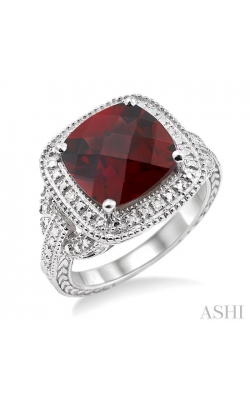 SILVER GEMSTONE & DIAMOND RING 88139DHSSGTSLRG product image