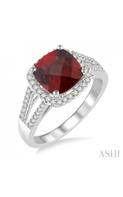 GEMSTONE & DIAMOND RING 51366DHTSGTWG product image
