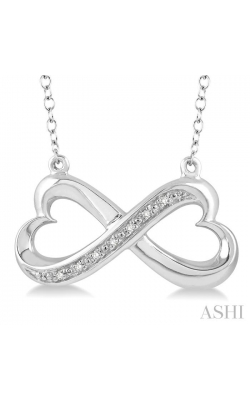 SILVER INFINITY HEART SHAPE DIAMOND PENDANT 87839DHSSSLPD product image