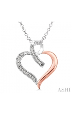 SILVER HEART SHAPE DIAMOND PENDANT 87859DHSSSLPD product image