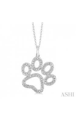 SILVER PAW DIAMOND PENDANT 87909DHSSSLPD product image