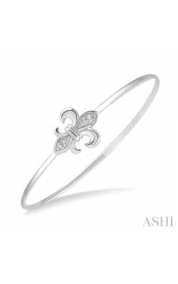 DIAMOND FLEUR DE LIS FLEXI BANGLE 85859DHSSSLBG product image