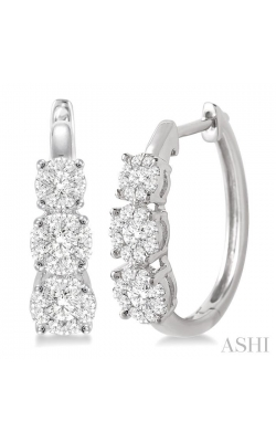 PAST PRESENT & FUTURE LOVEBRIGHT DIAMOND HOOP EARRINGS 910A2DHFVERWG product image