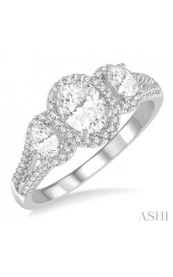OVAL SHAPE DIAMOND ENGAGEMENT RING 267K2DHFHWG-LE product image