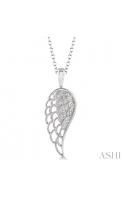 SILVER ANGEL WING DIAMOND PENDANT 87259DHSSSLPD product image