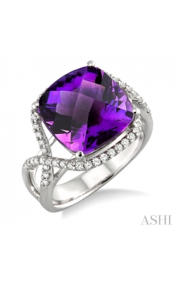 GEMSTONE & DIAMOND RING 50255DHFVAMWG product image
