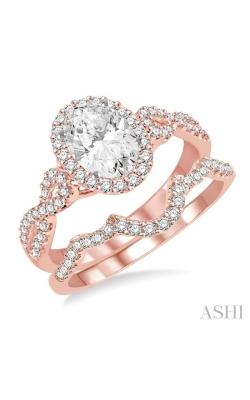 OVAL SHAPE DIAMOND WEDDING SET 245C2DHFVPW-WS product image