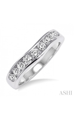 CHANNEL SET DIAMOND CURVED WEDDING BAND 31143DHFCW product image