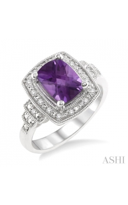 SILVER GEMSTONE & DIAMOND RING 88108DHSSAMSLRG product image