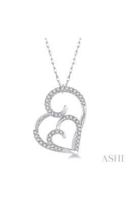 DOUBLE HEART SHAPE DIAMOND PENDANT 93848DHTSPDWG product image