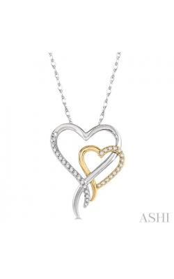 TWIN HEART SHAPE DIAMOND PENDANT 94018DHTSPDWY product image