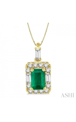 GEMSTONE & DIAMOND PENDANT 58495DHFHPDEMYG product image